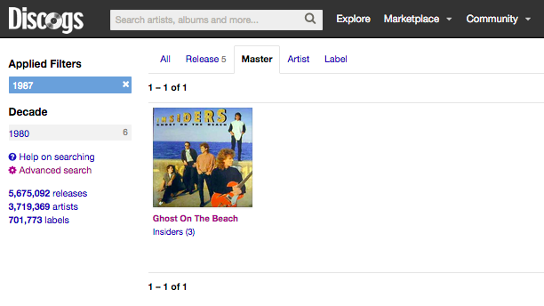 Discogs Insiders Search