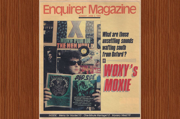 Cincinnati Enquirer Magazine Woxy's Moxie cover 1985