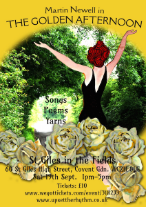 Poster for Martin Newell's Golden Afternoon 2015 London show